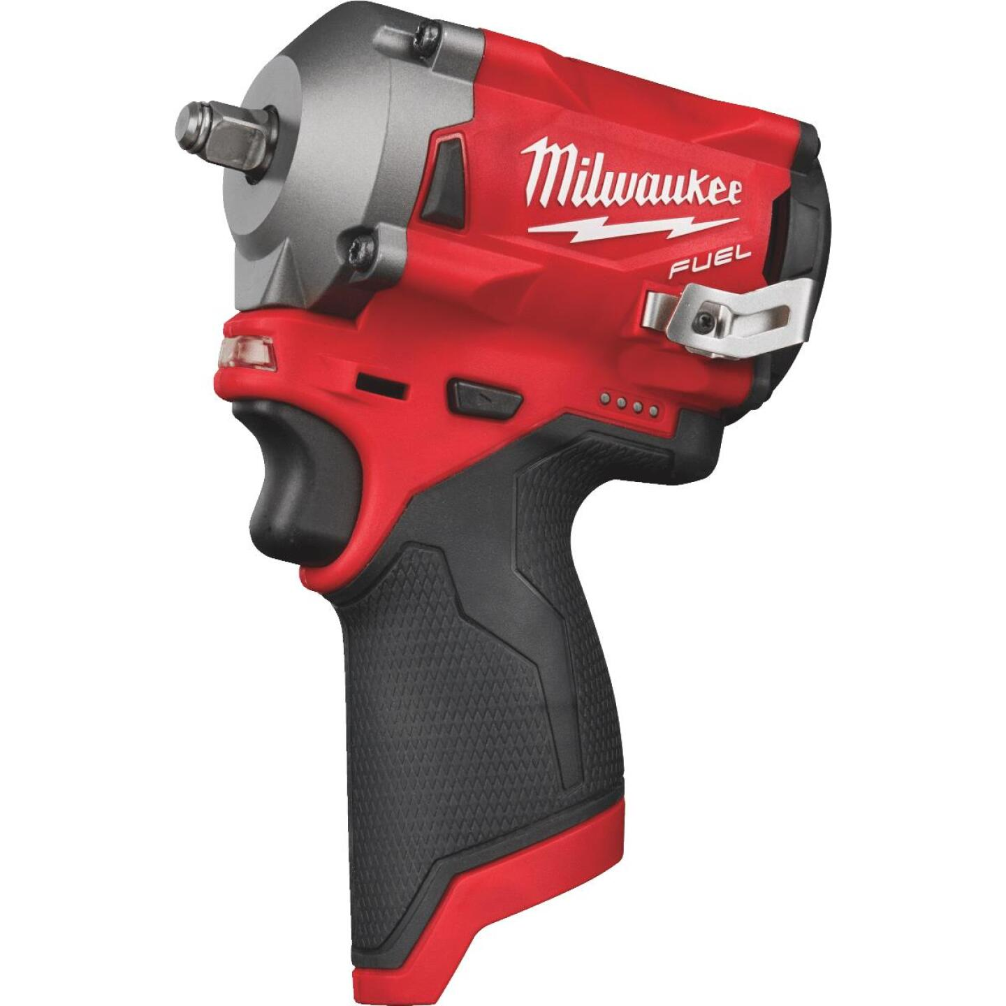 Milwaukee M12 FUEL 12 Volt Lithium-Ion Brushless 3/8 In. Stubby Cordless Impact Wrench Kit Image 4