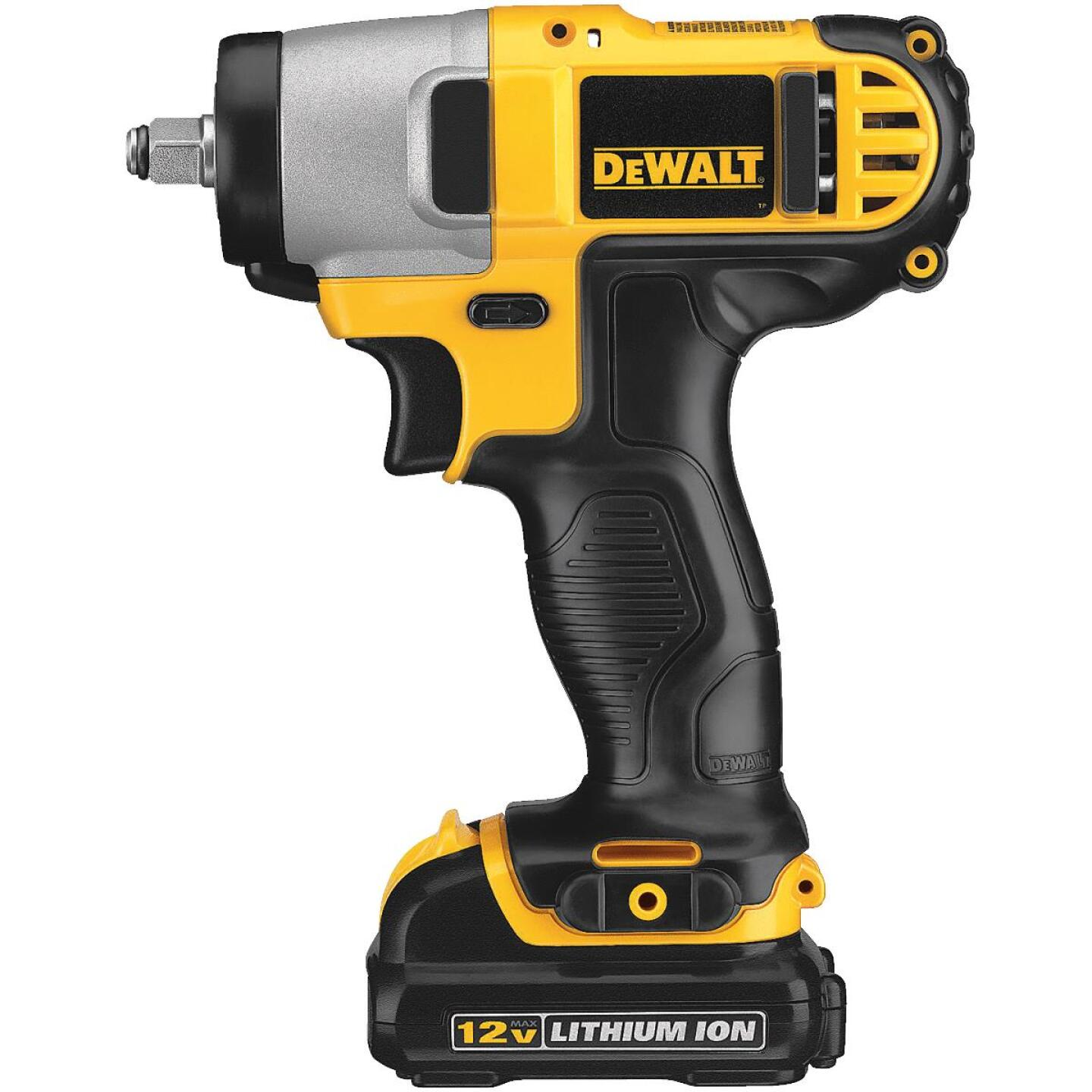 DeWalt 12 Volt MAX Lithium-Ion 3/8 In. Cordless Impact Wrench Kit Image 2