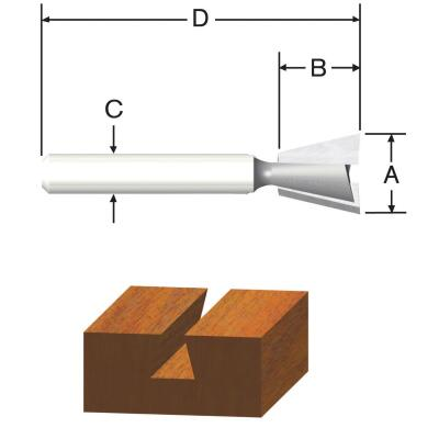 Vermont American Carbide Dovetail 3/8 In. Dovetail Bit