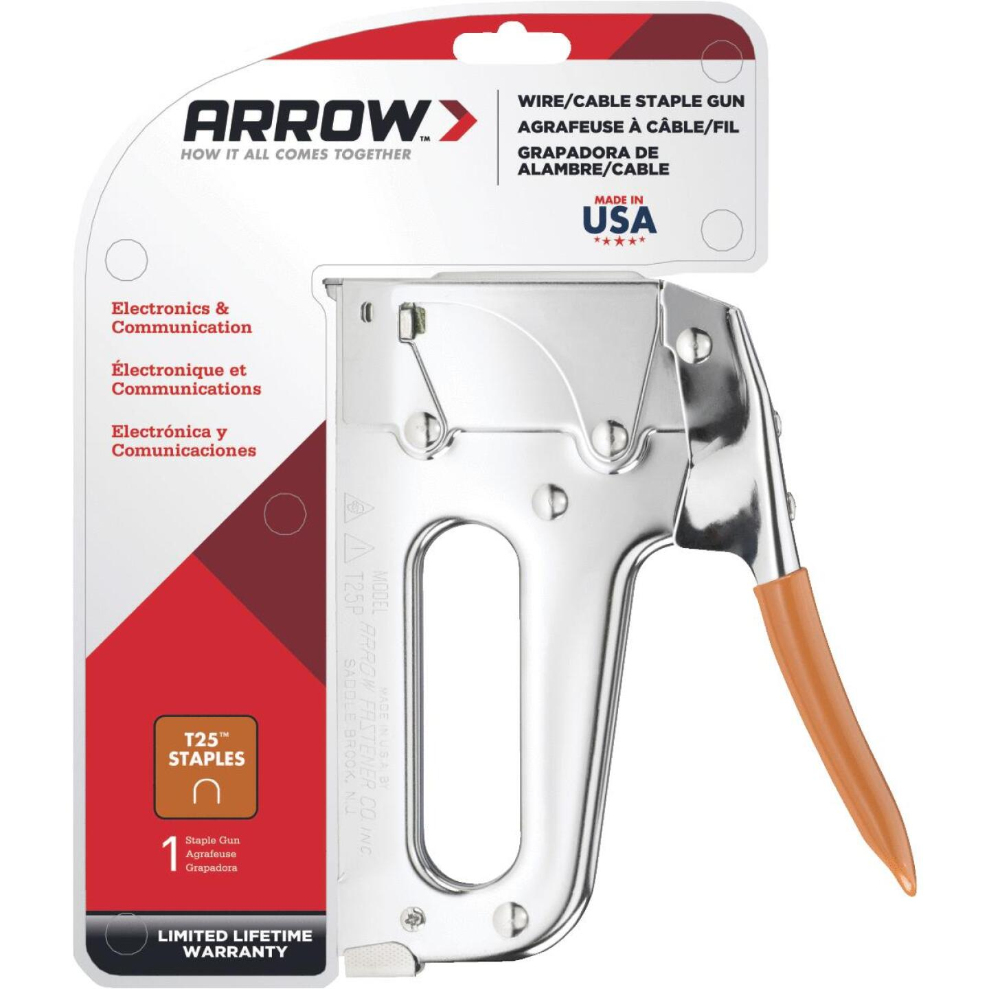 Arrow T25 Heavy-Duty Wire and Cable Staple Gun Image 1