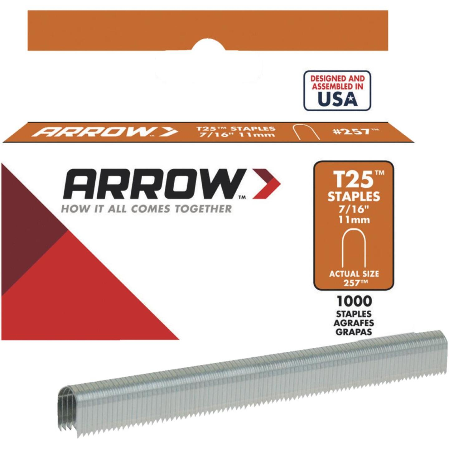 Arrow T25 Round Crown Cable Staple, 7/16 In. (1100-Pack) Image 1