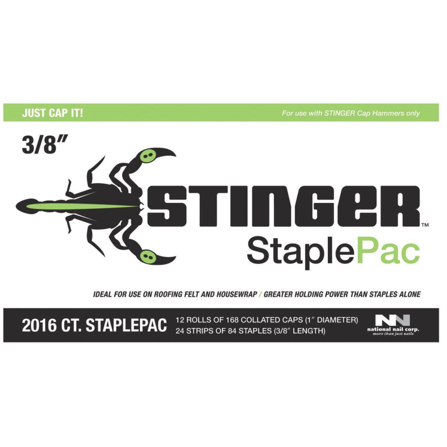 Stinger StaplePac 3/8 In. Caps & Staples (2016-Pack) Image 1