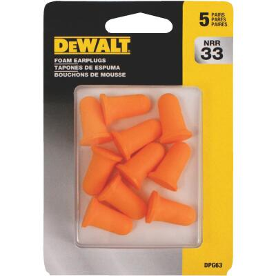 DeWalt Foam NRR 29dB Earplugs (5-Pair)