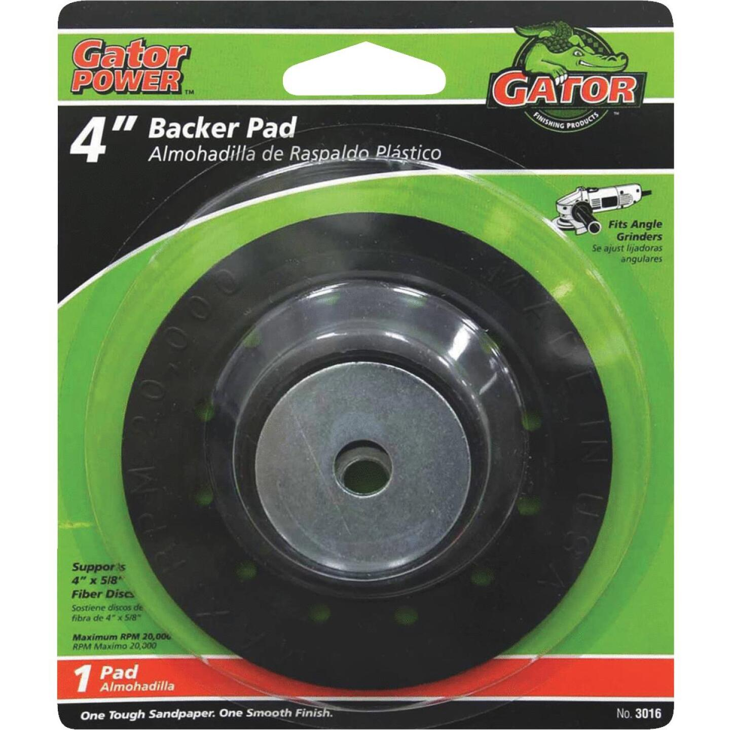 Gator 4 In. Power Angle Grinder Backing Pad Image 1