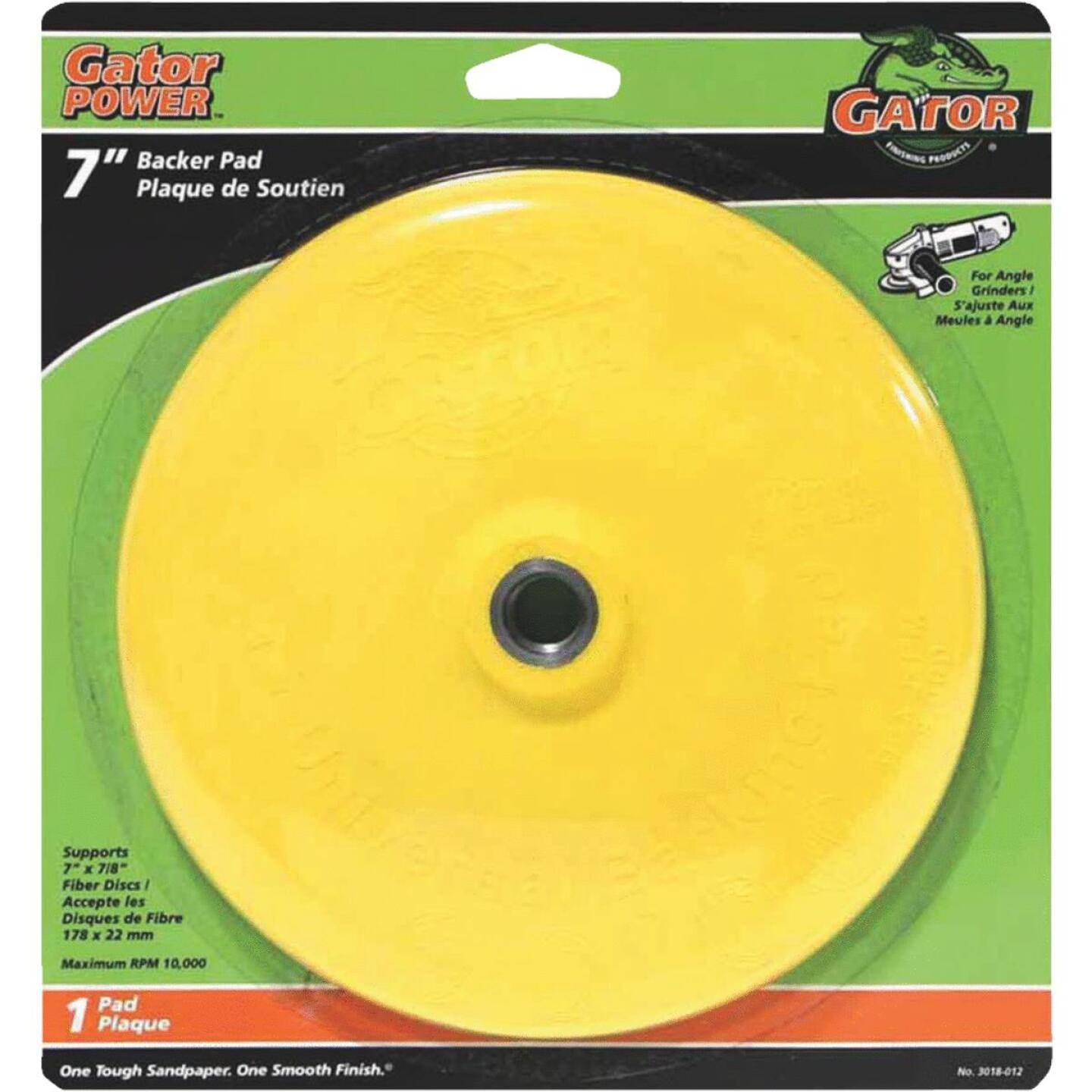 Gator 7 In. Power Angle Grinder Backing Pad Image 1