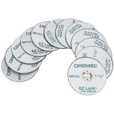 Dremel 1-1/2 In. EZ Lock Metal Cut-Off Wheel, (12-Pack)