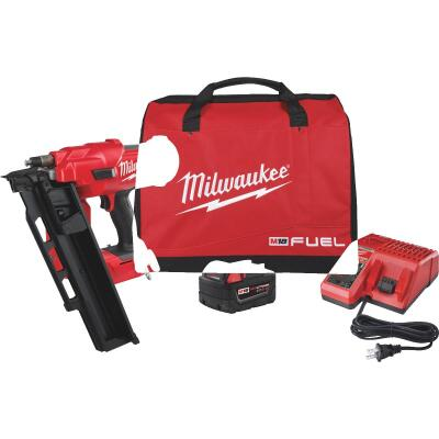 Milwaukee M18 FUEL 18 Volt Lithium-Ion Brushless 21 Degree Cordless Framing Nailer Kit