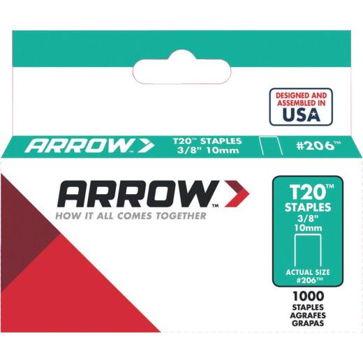 Arrow T20 Staple, 3/8 In. (1000-Pack)