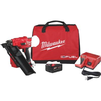 Milwaukee M18 FUEL 18 Volt Lithium-Ion Brushless 30 Degree Cordless Framing Nailer Kit