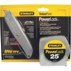 Stanley 25 Ft. PowerLock Tape Measure and Heavy-Duty Utility Knife Tool Set (2-Piece) Image 2