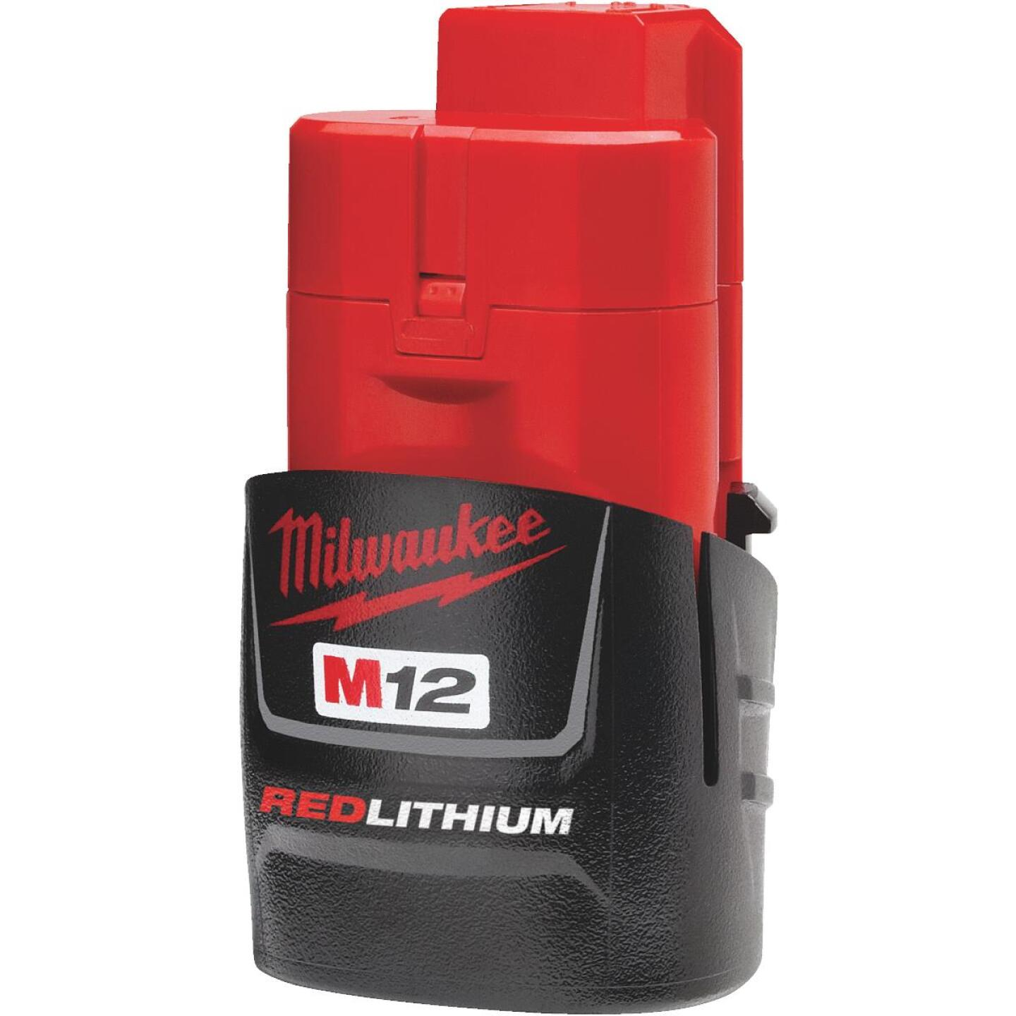 Milwaukee M12 REDLITHIUM 12 Volt Lithium-Ion 1.5 Ah Compact Tool Battery Image 2