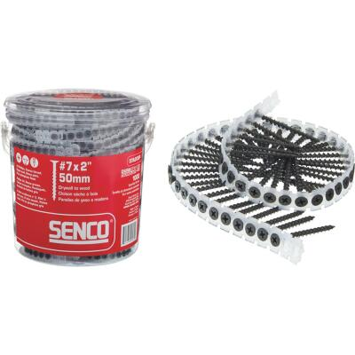 Senco DuraSpin #7 x 2 In. Phillips Bugle Head Collated Drywall Screw, Phospate Finish (1000 Ct.)