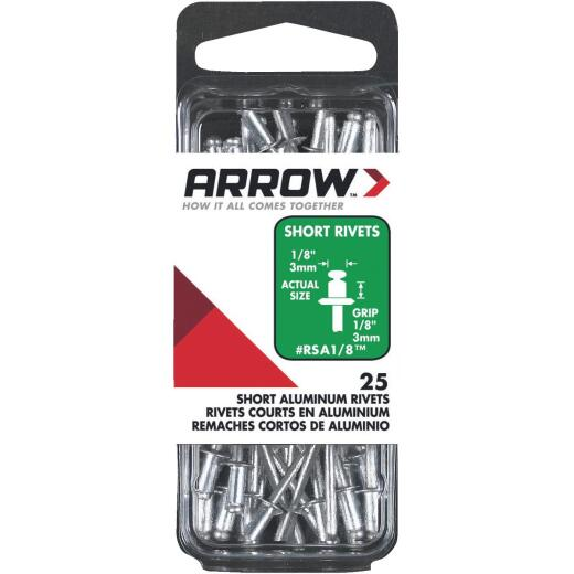 Arrow 1/8 In. x 1/8 In. Aluminum Rivet (25 Count)