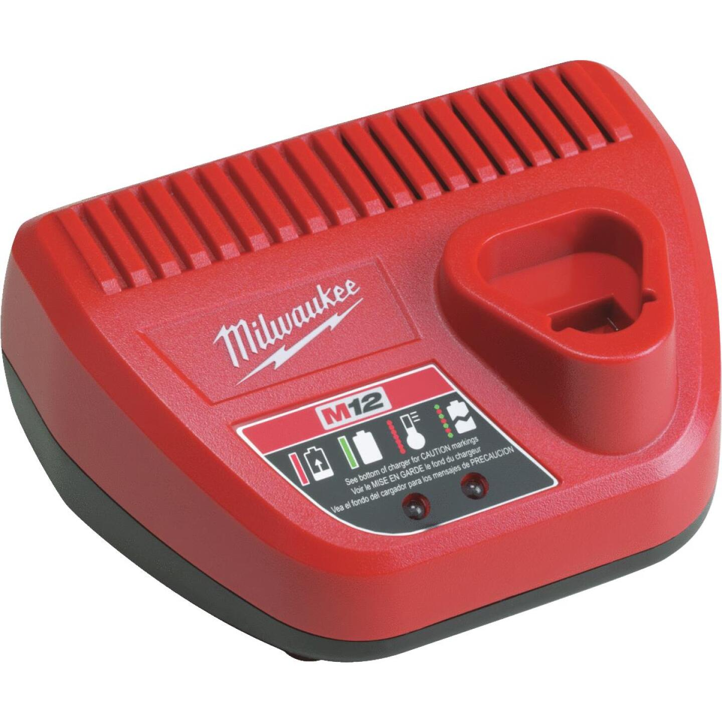 Milwaukee M12 12 Volt Lithium-Ion Battery Charger Image 1