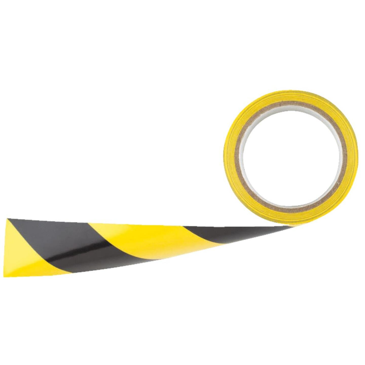 Irwin 2 In. W x 54 Ft. L Striped Floor Caution Tape Image 1