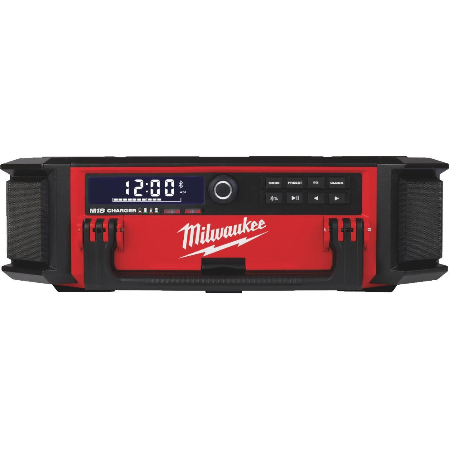 Milwaukee M18 PACKOUT 18 Volt Lithium-Ion Cordless Jobsite Radio and Battery Charger Image 1