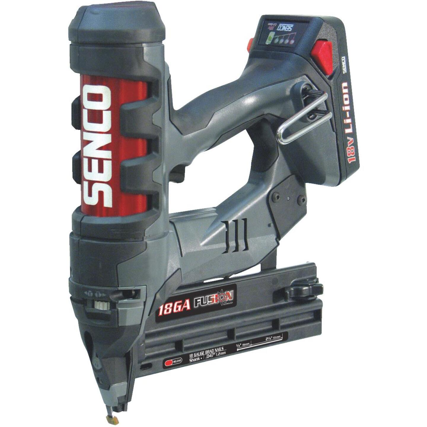Senco Fusion F-18 18-Volt Lithium-Ion 18-Gauge 2-1/8 In. Cordless Brad Nailer Image 1