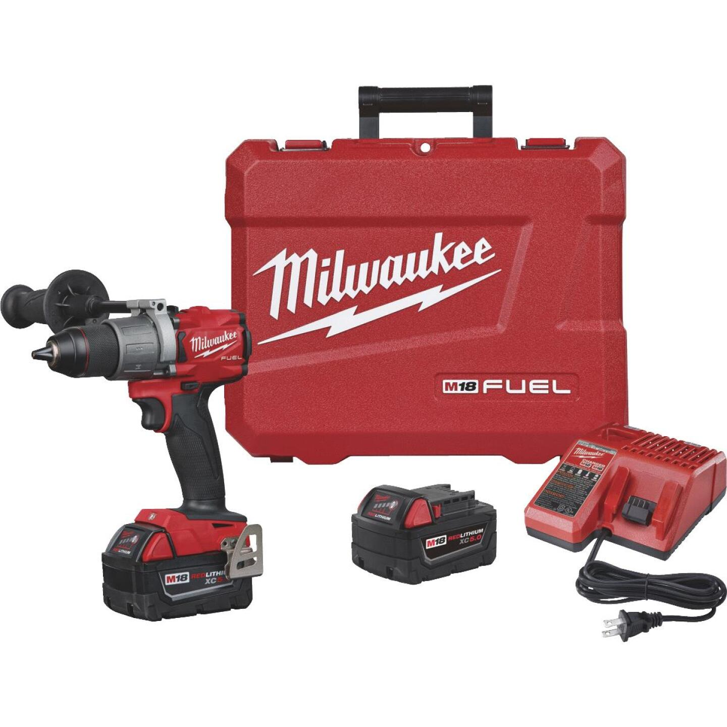 Milwaukee M18 FUEL 18 Volt XC Lithium-Ion Brushless 1/2 In. Cordless Drill Kit Image 1