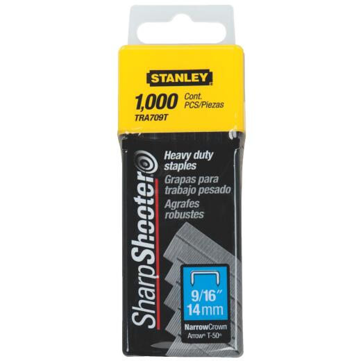 Stanley SharpShooter Heavy-Duty Narrow Crown Staple, 9/16 In. (1000-Pack)
