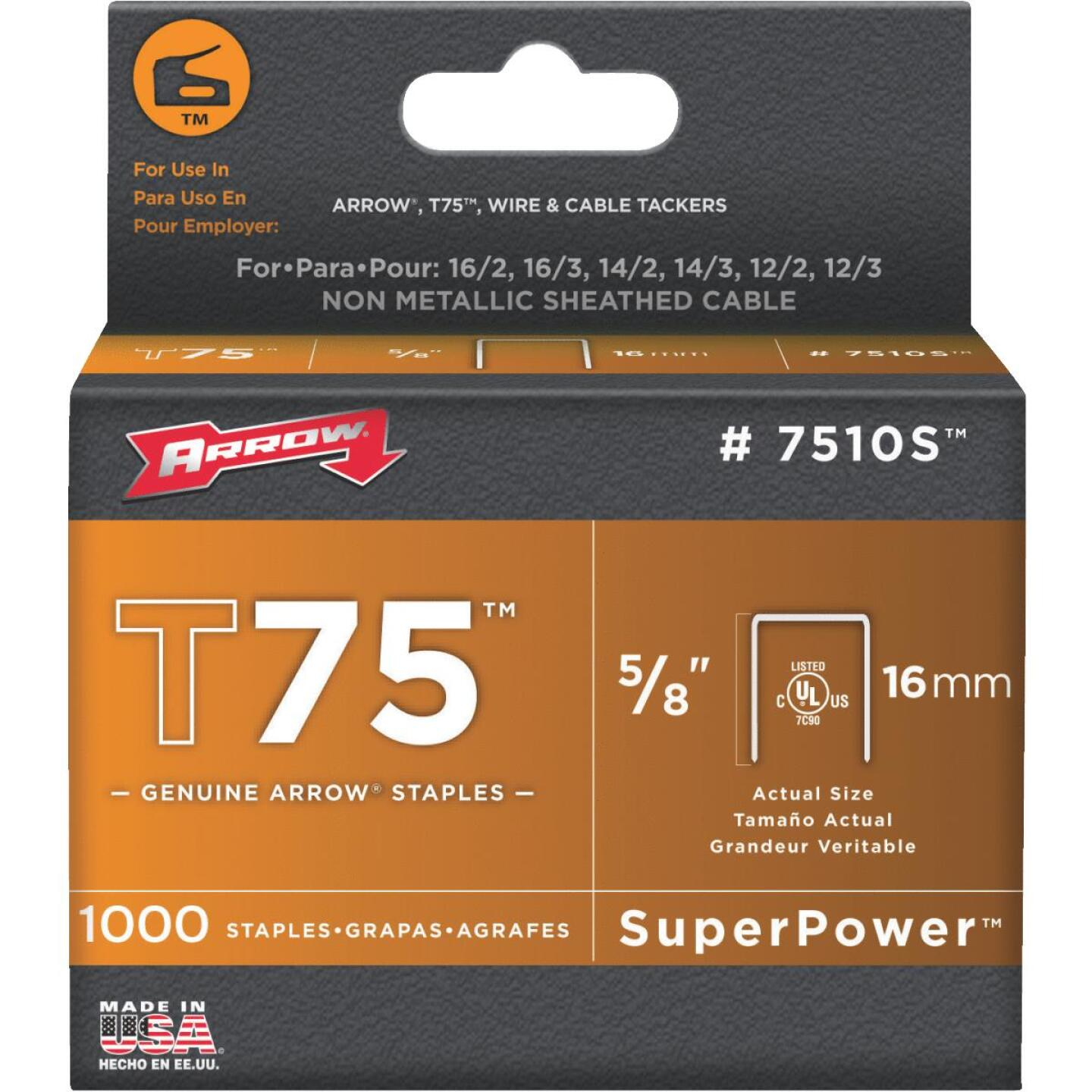 Arrow T75 SuperPower Staple, 5/8 In. (1000-Pack) Image 1