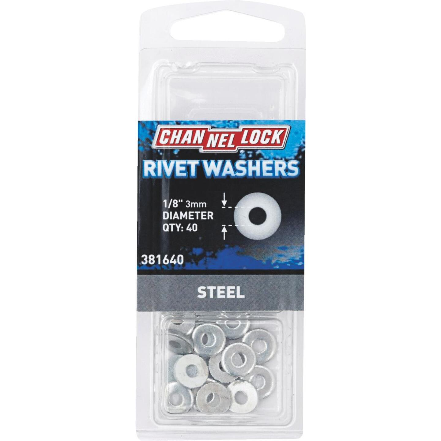Channellock 1/8 in. Steel Rivet Washer (40-Pack) Image 1