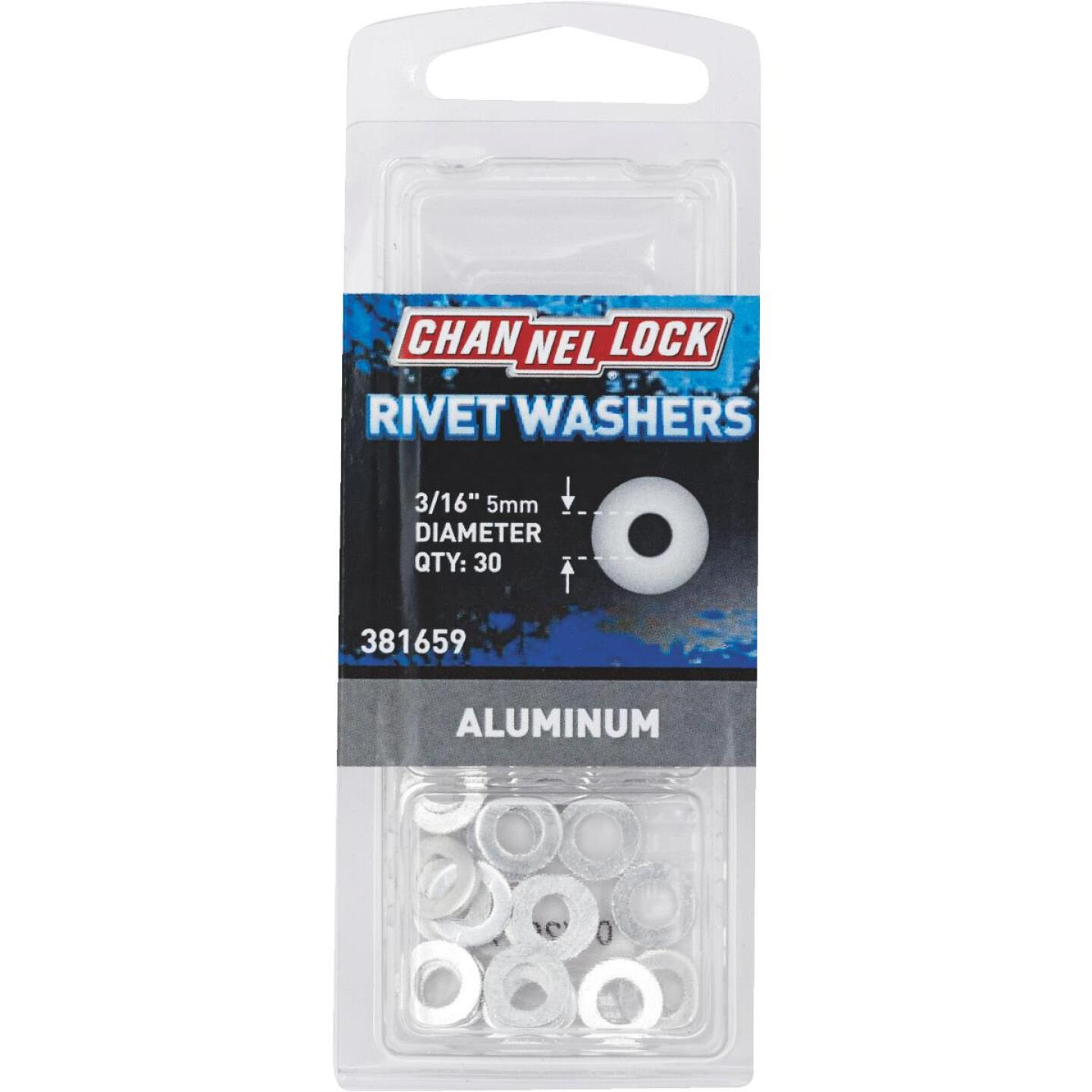 Channellock 3/16 in. Aluminum Rivet Washer (30-Pack) Image 1