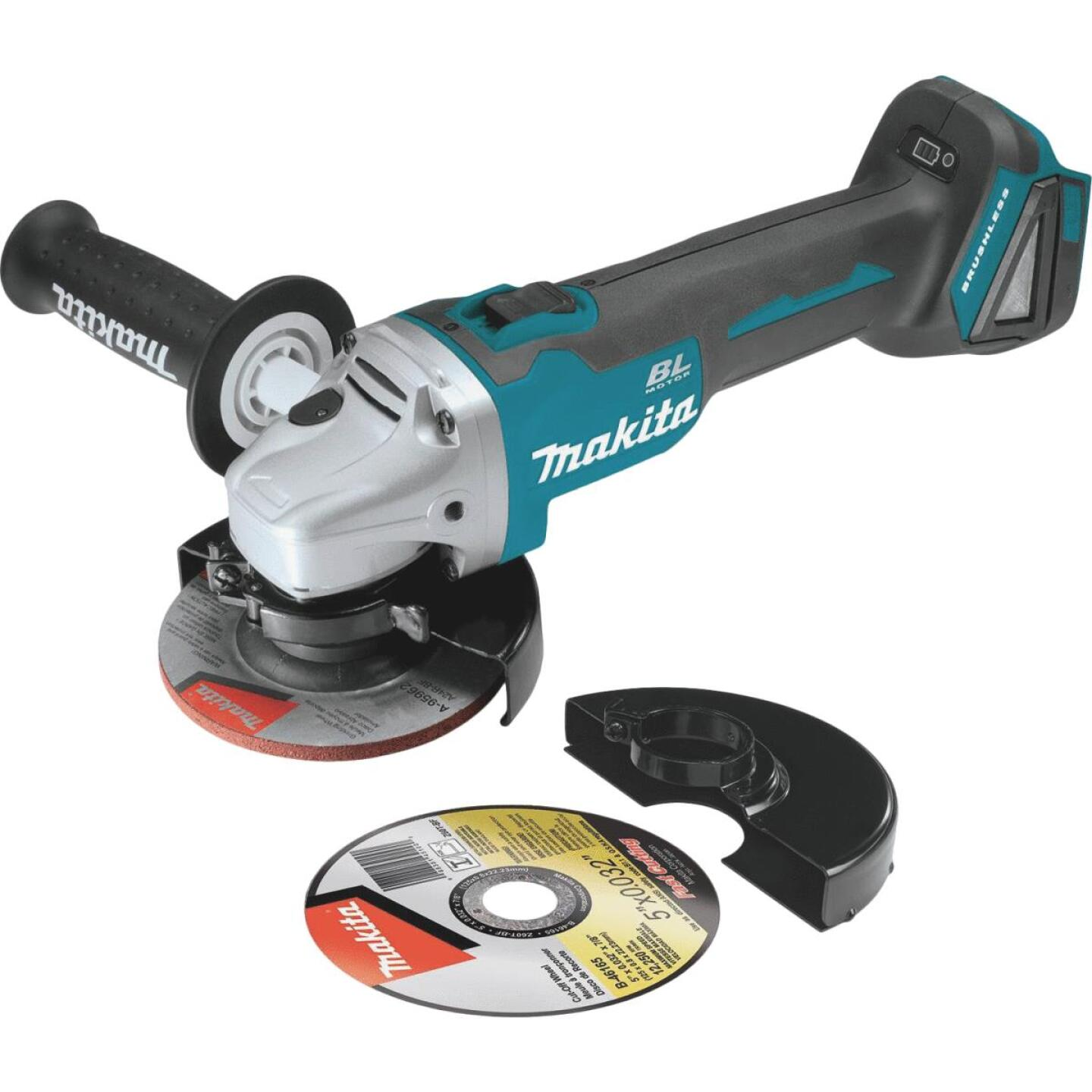 Makita 18 Volt LXT Lithium-Ion Brushless Cordless 4-1/2 In.-5 In. Cordless Angle Grinder/Cut-Off Tool (Bare Tool) Image 1