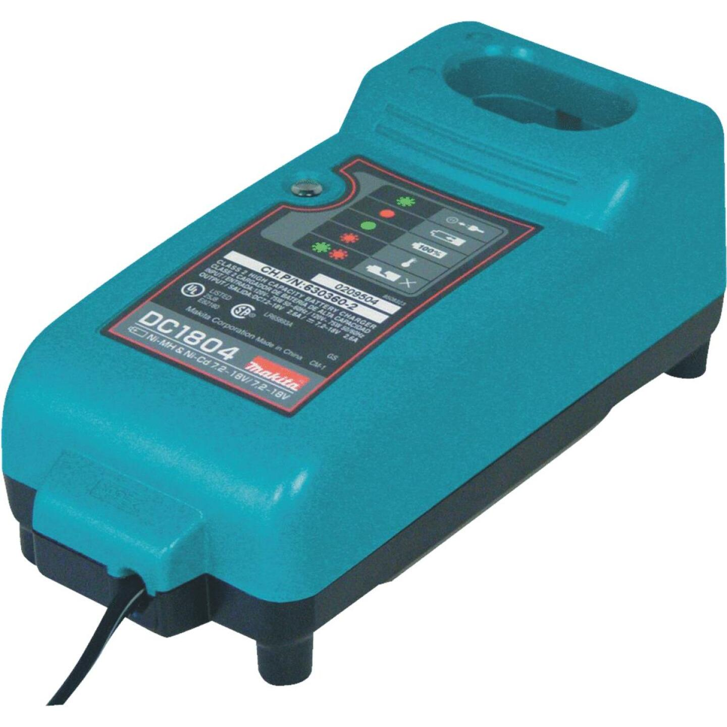 Makita 7.2-Volt to18-Volt Nickel-Cadmium/Nickel-Metal Hydride Battery Charger Image 1
