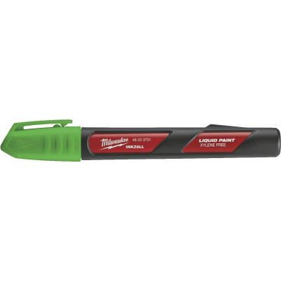 Milwaukee INKZALL Nib Point Green Liquid Paint Job Site Marker