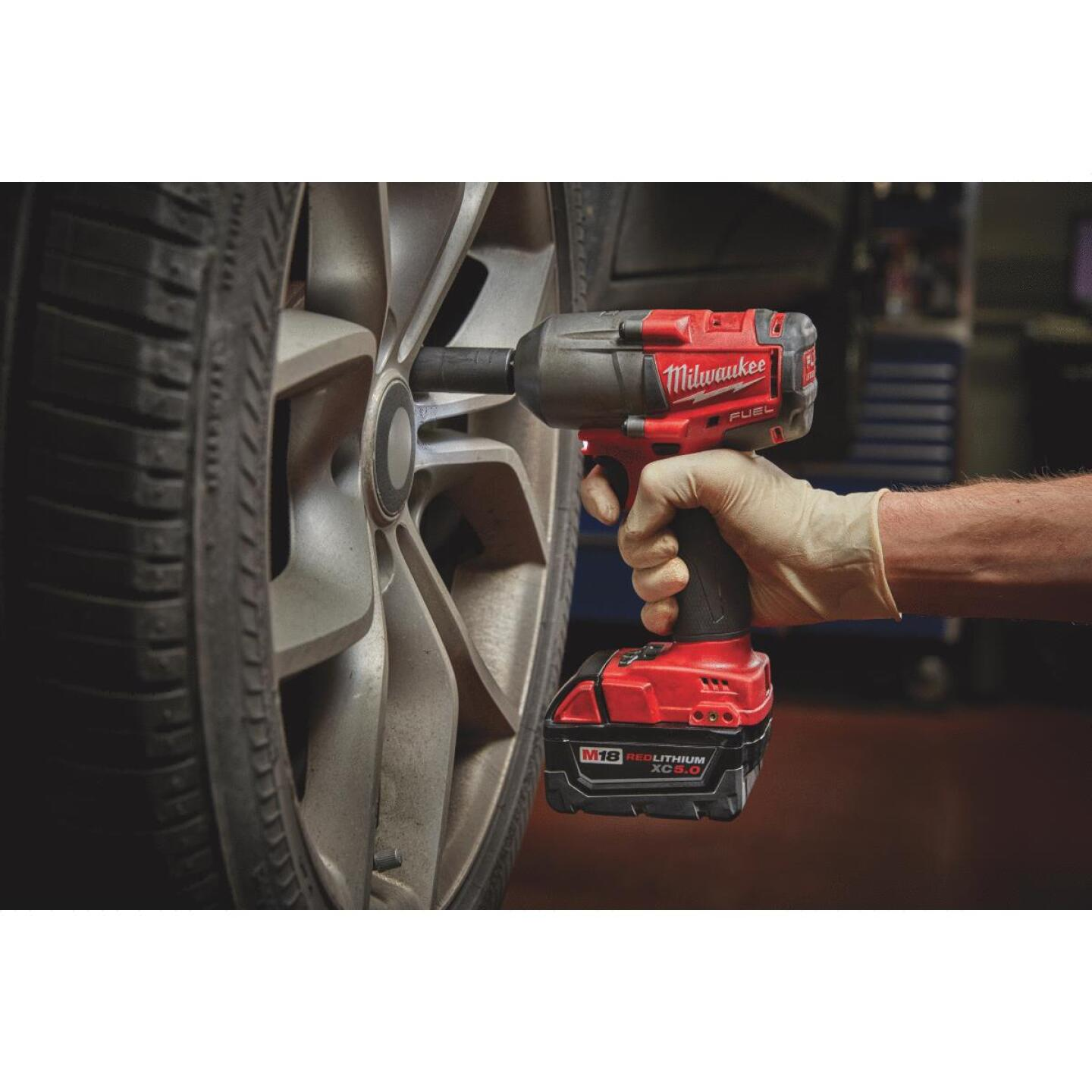 Milwaukee M18 FUEL 18 Volt Lithium-Ion Brushless 1/2 In. Mid-Torque Cordless Impact Wrench with Friction Ring (Bare Tool) Image 2