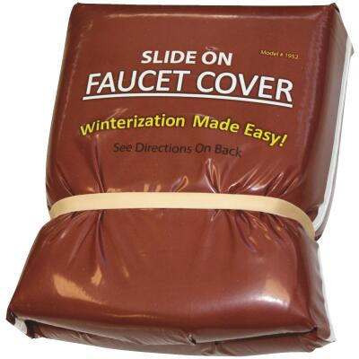 Slide On Insulated Plastic Faucet Cover Freeze Protection