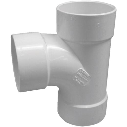 IPEX Canplas Sanitary Tee 3 In. PVC Sewer and Drain Tee