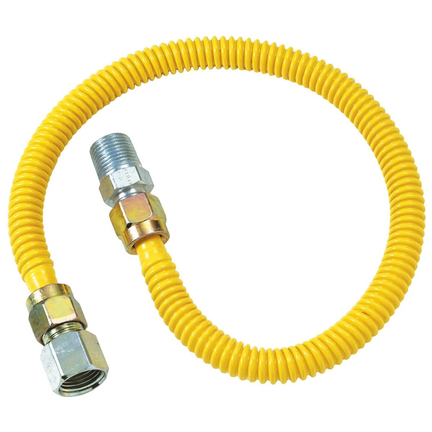 BrassCraft ProCoat 1/2 In. x 3/8 In. x 48 In. Gas Connector Image 1