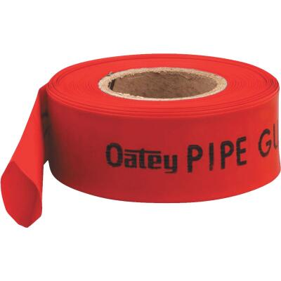 Oatey Red 2.145 In. W x 200 Ft. L Thick Polyethylene Pipe Guard