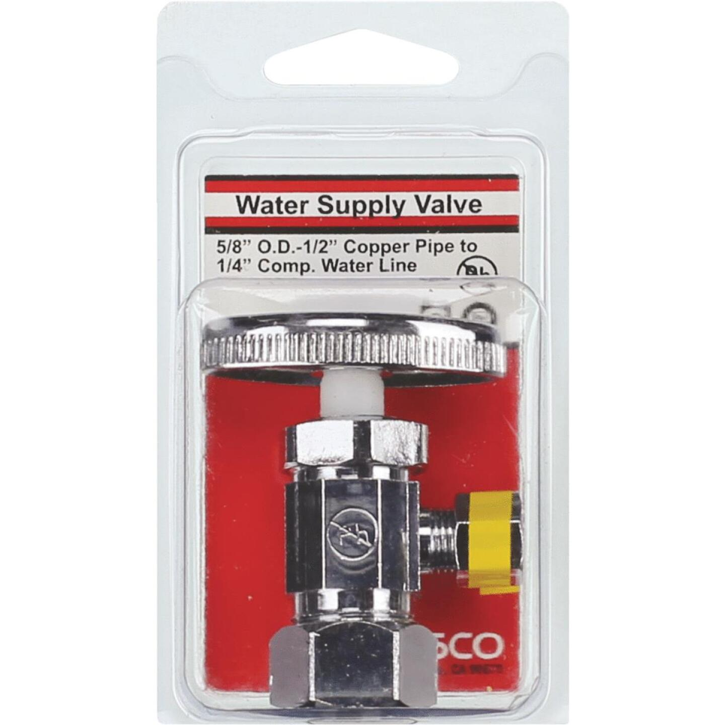 Lasco 5/8 In. Comp Inlet x 1/4 In. Comp Outlet Multi-Turn Style Angle Valve Image 2