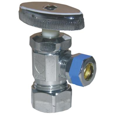 Lasco 5/8 In. Comp Inlet x 3/8 In. Comp Outlet Multi-Turn Style Angle Valve
