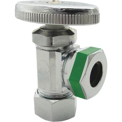 Lasco 5/8 In. Comp Inlet x 1/2 In. IP S-J Outlet Multi-Turn Style Angle Valve