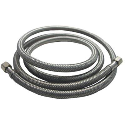 Lasco 1/4 In. x 1/4 In. x 12 In. Length Braided Supply Ice Maker Connector Hose