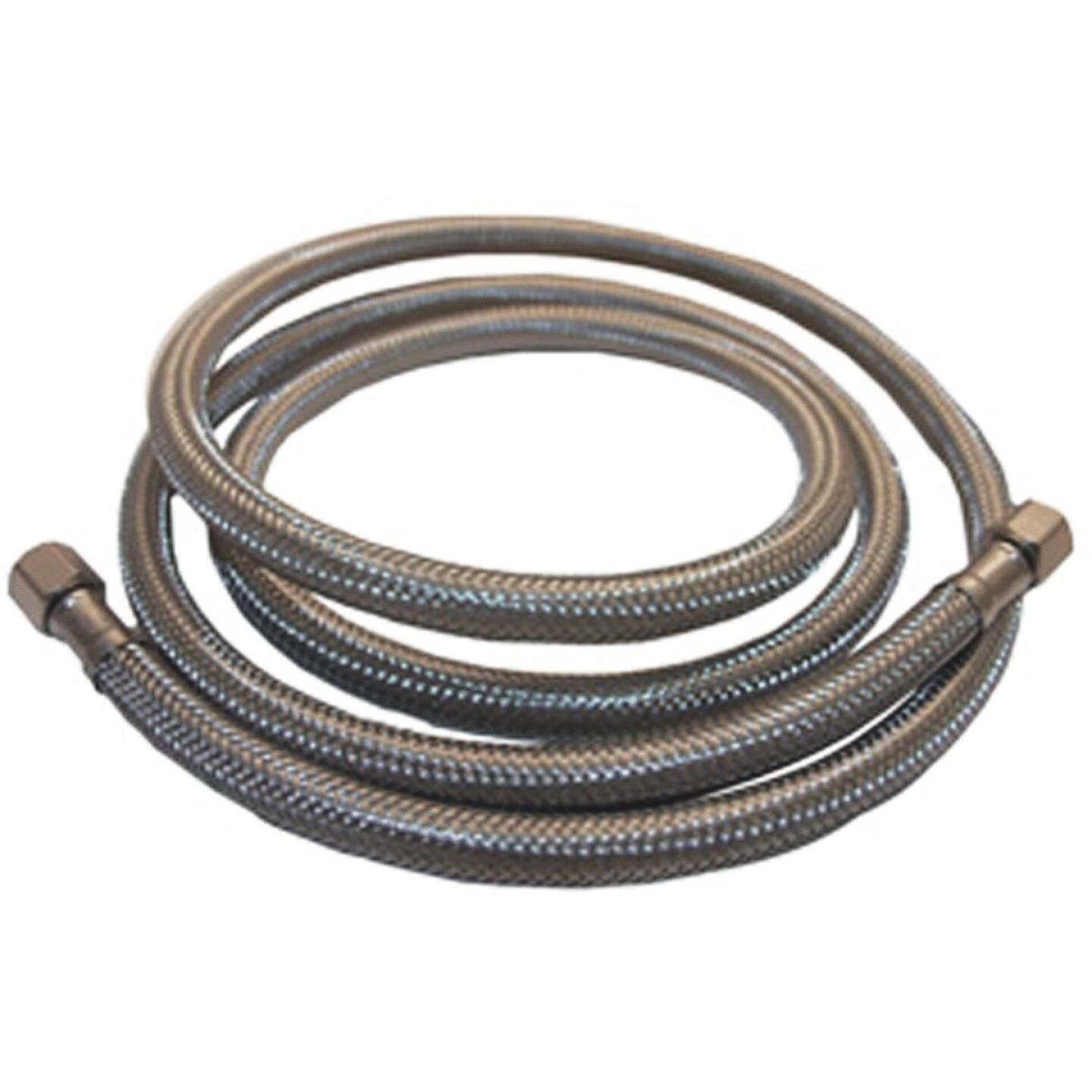 Lasco 1/4 In. x 1/4 In. x 20 Ft. Length Braided Supply Ice Maker Connector Hose Image 1