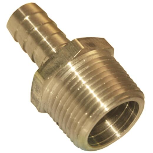 Lasco 1/8 In. MPT x 1/8 In. Brass Hose Barb Adapter