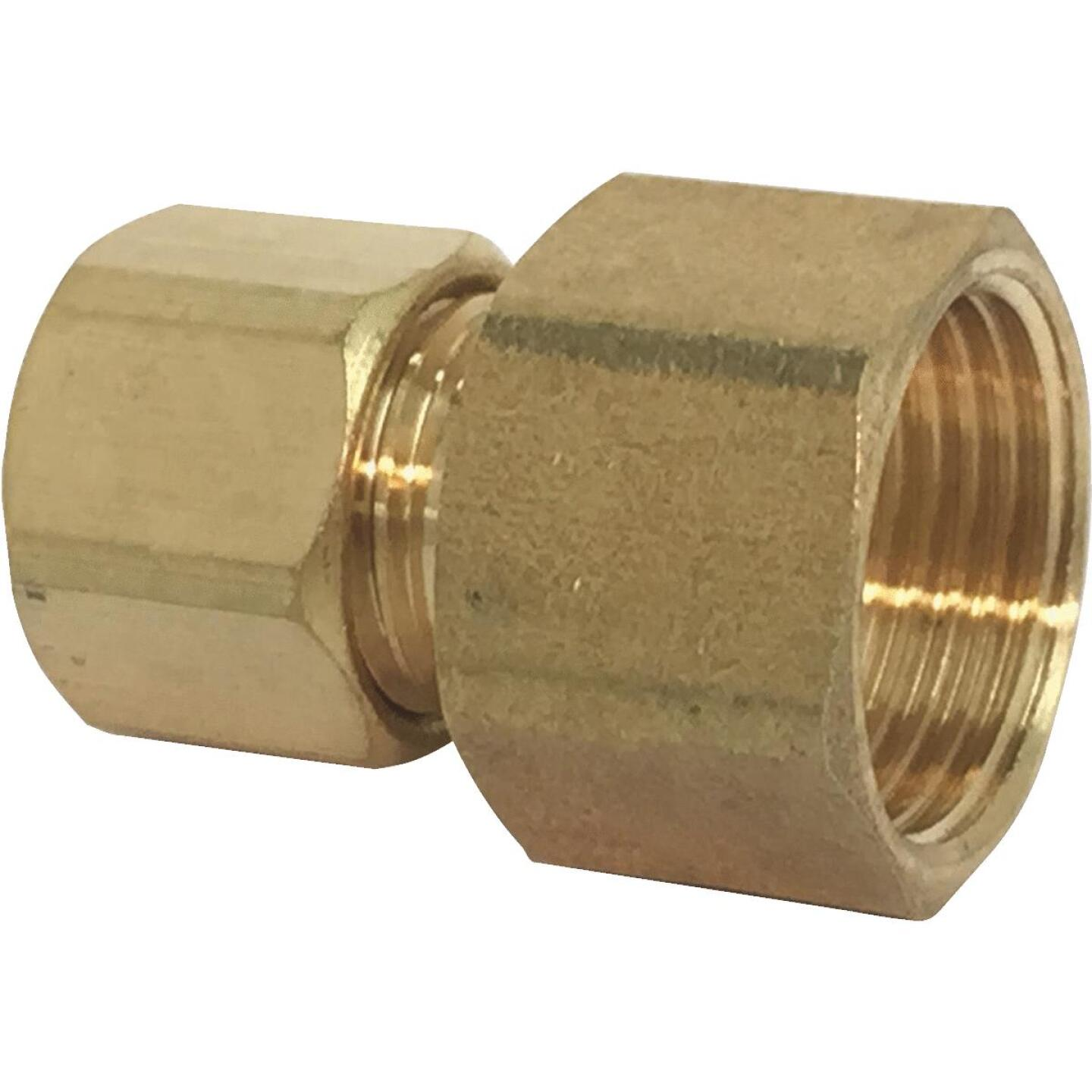 Sioux Chief 1/4 In. Compression X 1/4 In. Female Flare Adapter with Gasket For Ice Maker Connection Image 1