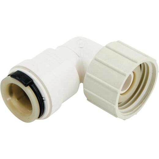 Watts 1/2 In. CTS x 3/4 In. FGHT Quick Connect Swivel Plastic Elbow