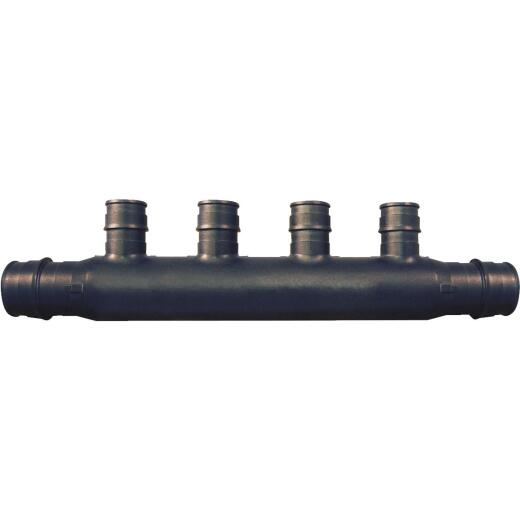 Conbraco PEX - Poly-Alloy Flow Through Manifold Type A 3/4 In. x 4, 1/2 In. Outlets