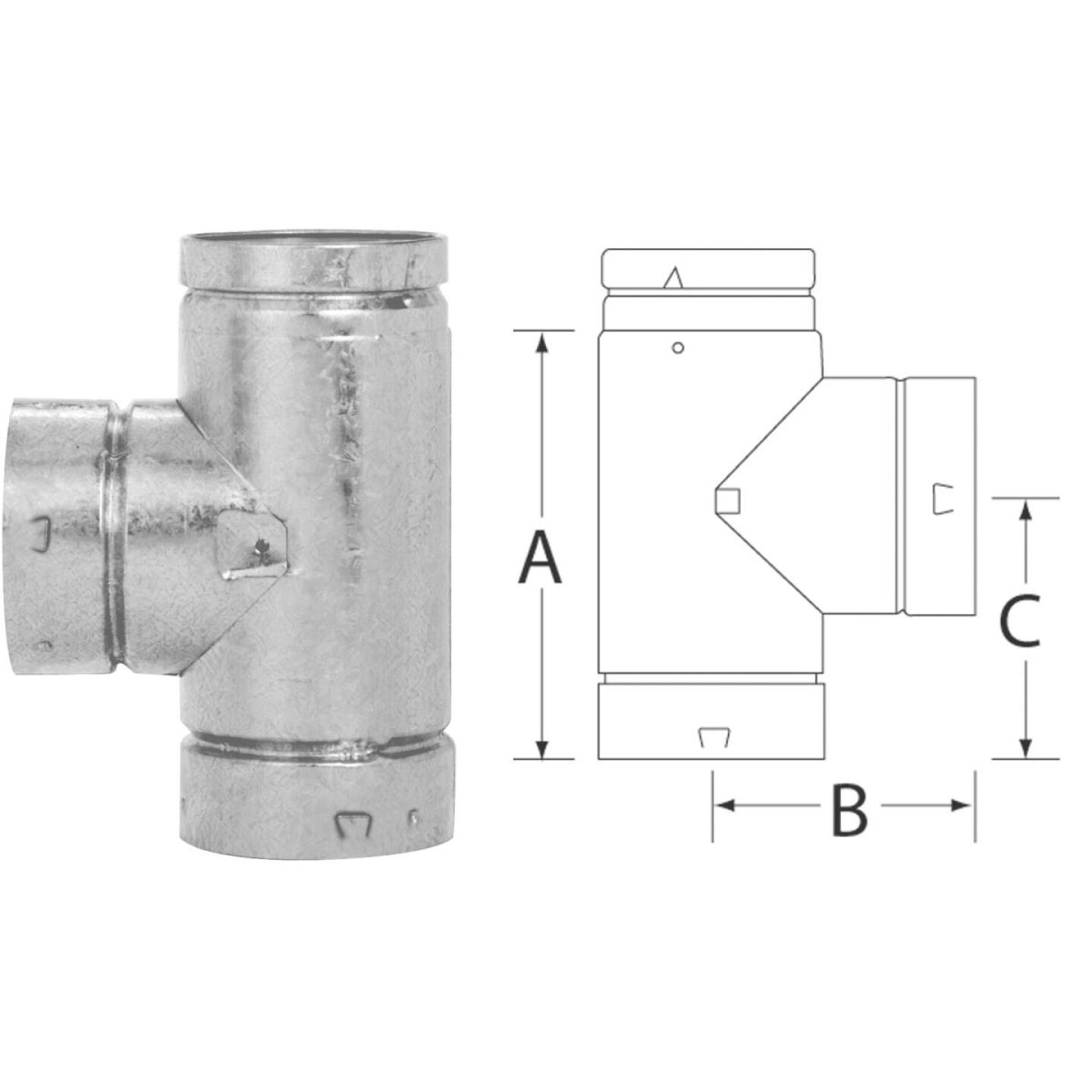 SELKIRK RV 4 In. x 8-1/2 In. x 4-3/4 In. Gas Vent Tee Image 1