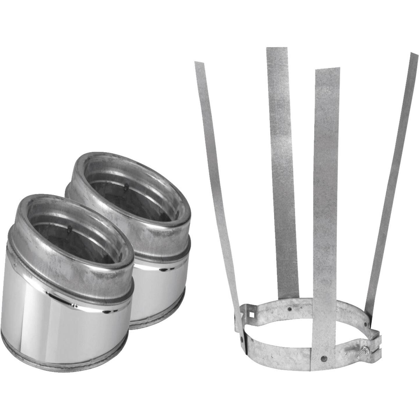 SELKIRK Sure-Temp 30 Degree 6 In. Stainless Steel Insulated Elbow Kit Image 1