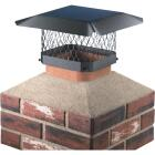 Shelter 9 In. x 13 In. Black Galvanized Steel Chimney Cap Image 1