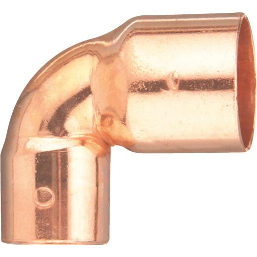Mueller Streamline 1/2 In. X 3/8 In. CxC 90 Degree Reducing Copper Elbow