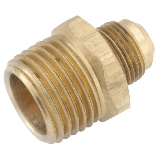 Anderson Metals 3/8 In. Flare x 3/8 In. Male Pipe Brass Flare Connector