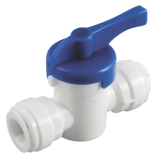 Anderson Metals 1/4 In. x 1/4 In. Plastic Push-In Ball Valve