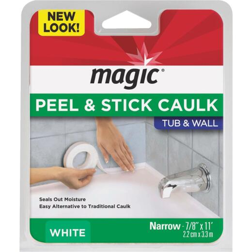 Magic 7/8 In. x 11 Ft. White Caulk Strip